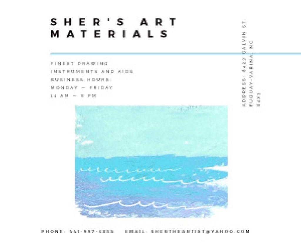 Plantilla de diseño de Sher's Art materials shop Medium Rectangle