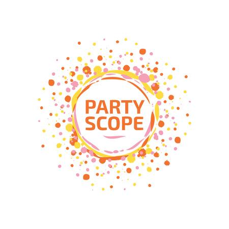 Plantilla de diseño de Event Agency with Confetti Burst in Yellow Logo