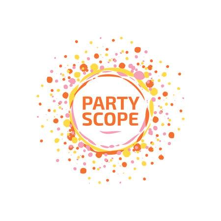 Template di design Event Agency with Confetti Burst in Yellow Logo