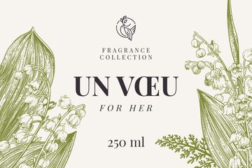 Fragrance brand ad with Lily of the valley