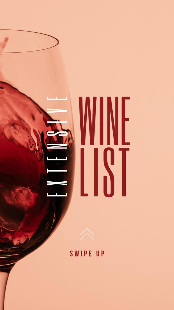 Plantilla de diseño de Splash of Wine in Glass Instagram Story