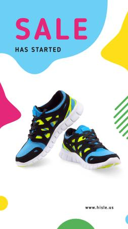 Template di design Sports Sale pair of Athletic Shoes Instagram Video Story