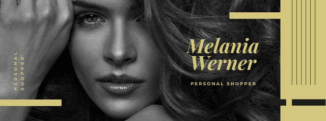 Template di design Personal Shopper sevices with Young attractive woman Facebook cover