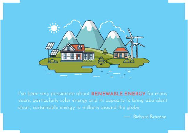 Modèle de visuel Renewable energy Concept - Card
