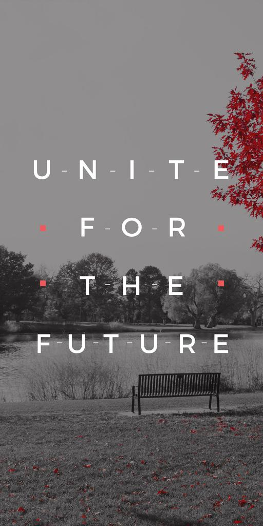 Ecology Quote with Scenic Autumn park — Crea un design