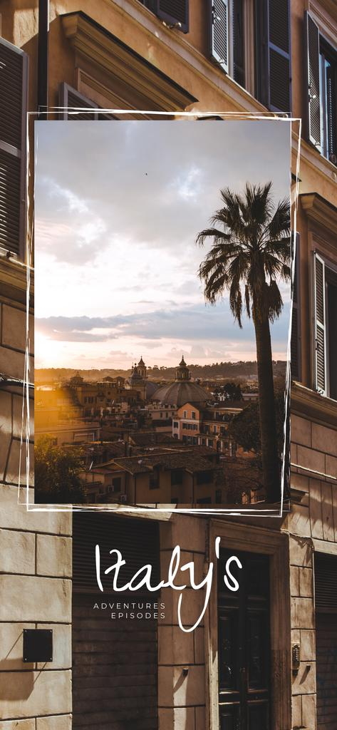 Italian town old buildings view — Crear un diseño