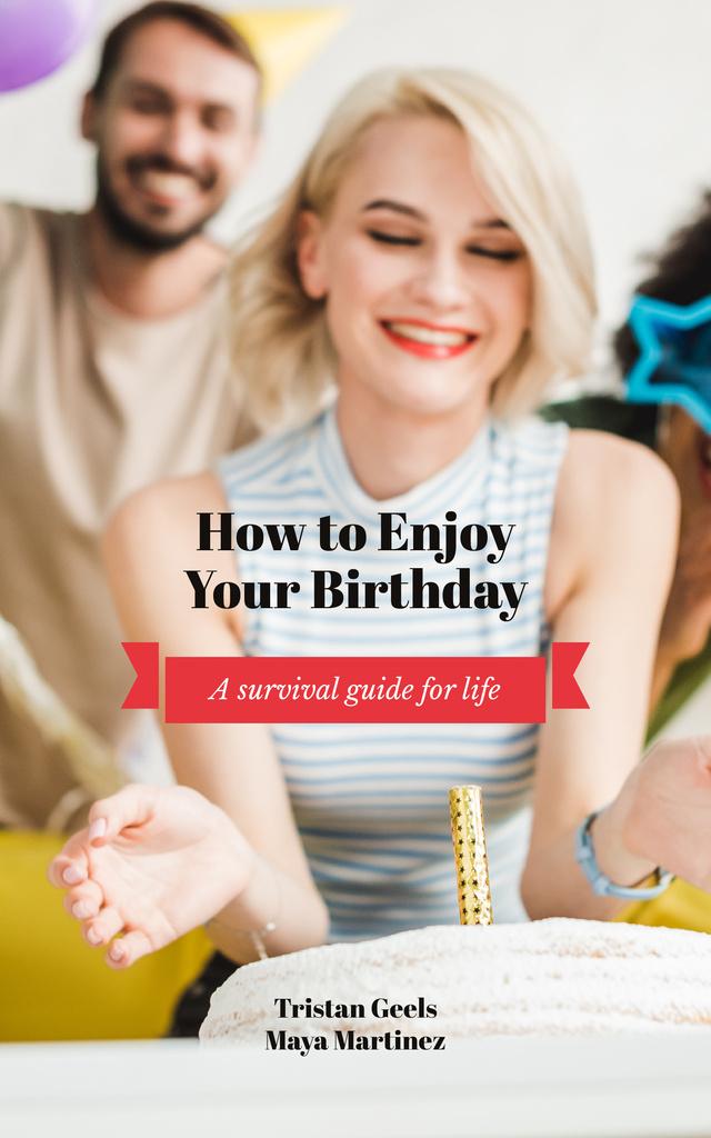 Plantilla de diseño de Happy girl celebrating her birthday Book Cover