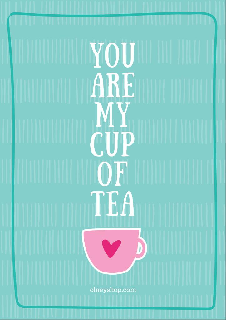 Love Quote Cup of Tea in Blue — Crear un diseño