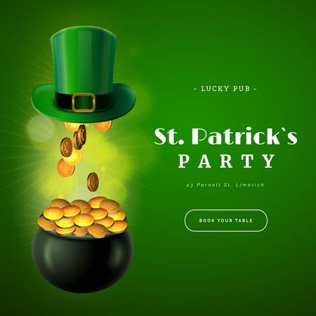 Saint Patrick's Day Party celebration things Animated Post Modelo de Design