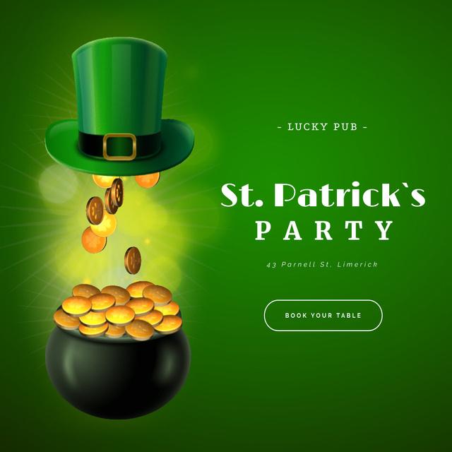 Saint Patrick's Day Party celebration things Animated Post Modelo de Design