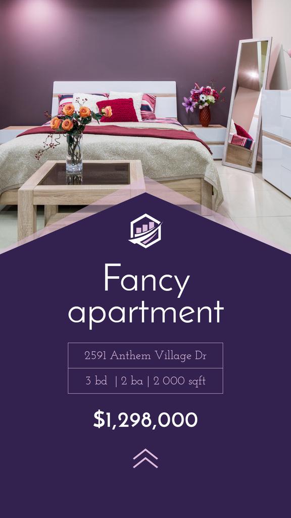 Real Estate Ad Cozy Bedroom Interior — Create a Design