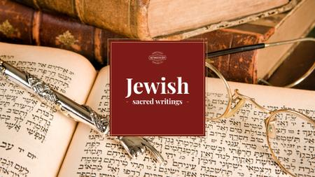 Template di design Jewish sacred writings Presentation Wide