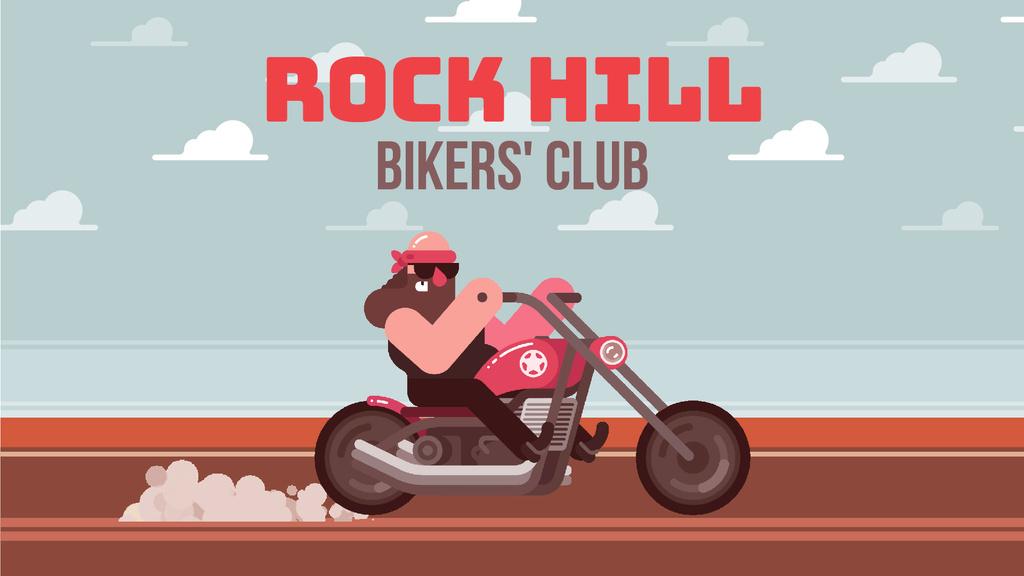 Biker's Club Member Riding Motorcycle | Full Hd Video Template — Створити дизайн