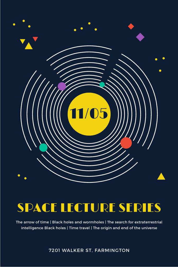 Space lecture series announcement — Create a Design
