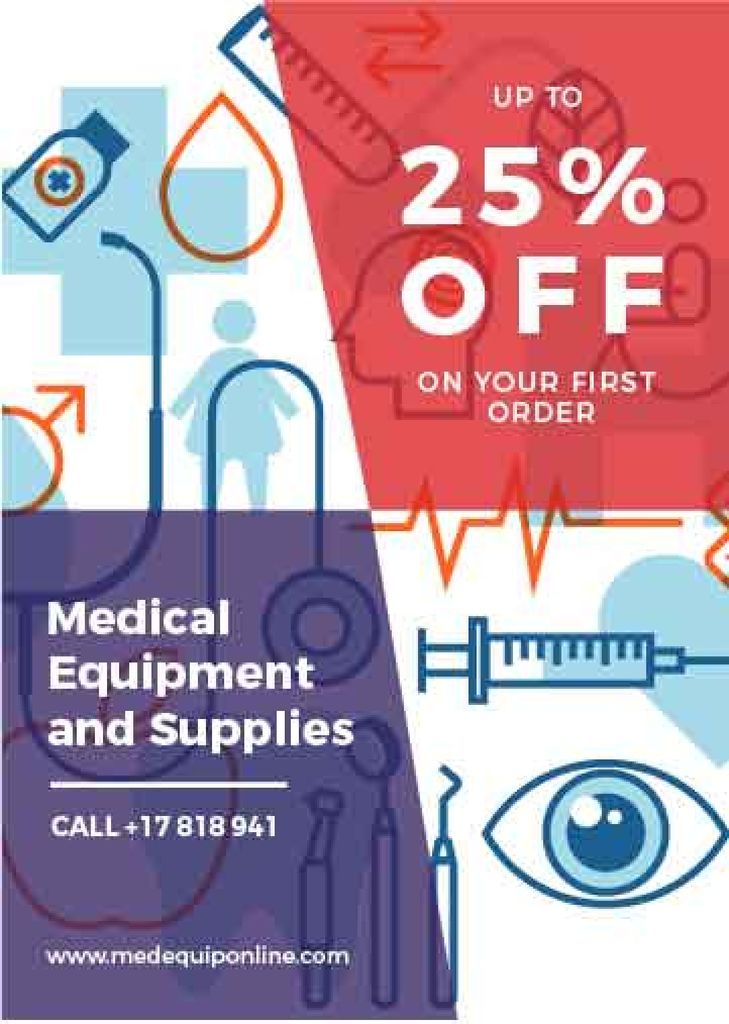 Medical equipment and supplies ad — Створити дизайн