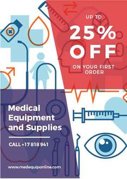Medical equipment and supplies web poster