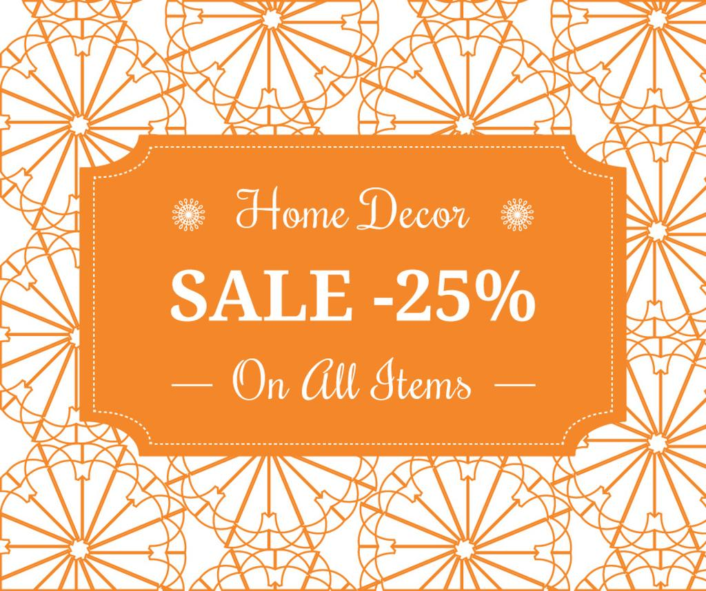 Home decor sale ad with floral texture — Create a Design