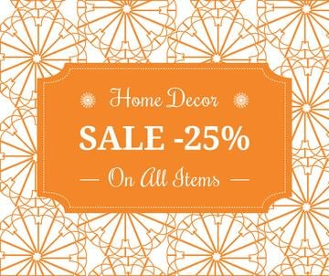 Home decor sale advertisement