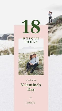Template di design Charming Lovers kissing on Valentines Day Instagram Story