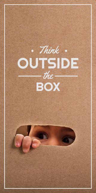 Modèle de visuel Child creative thinking concept - Graphic
