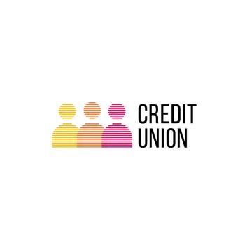Credit Company People Silhouettes Icon | Logo Template