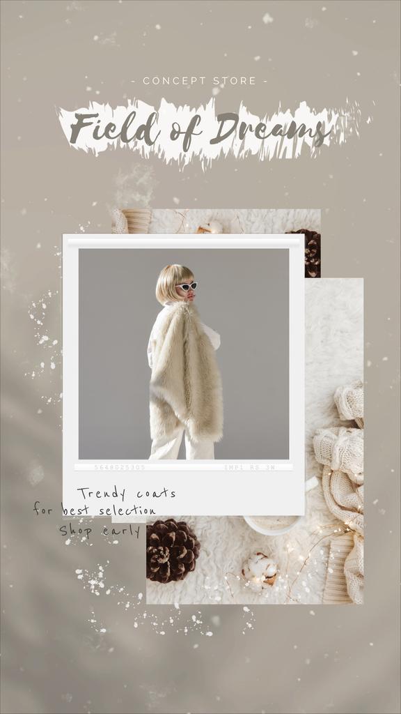Fashion Ad Woman in Fur Coat — Maak een ontwerp
