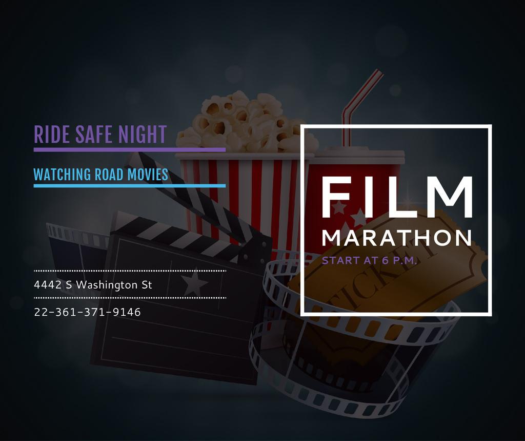 Film Marathon Night with popcorn — Modelo de projeto