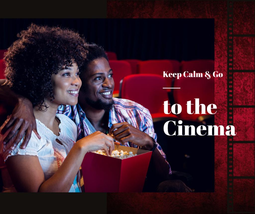 Cinema Invitation Couple watching Film — ein Design erstellen