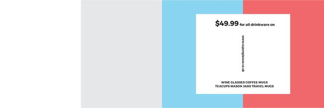 Drinkware for all shop Twitter – шаблон для дизайну