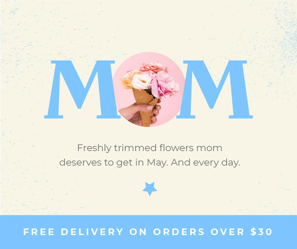 Flowers Delivery Offer on Mother's Day — Crea un design