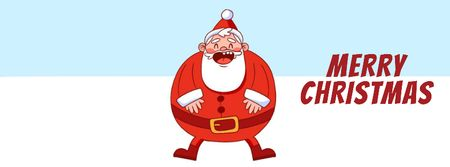 Ontwerpsjabloon van Facebook Video cover van Happy laughing Santa on Christmas