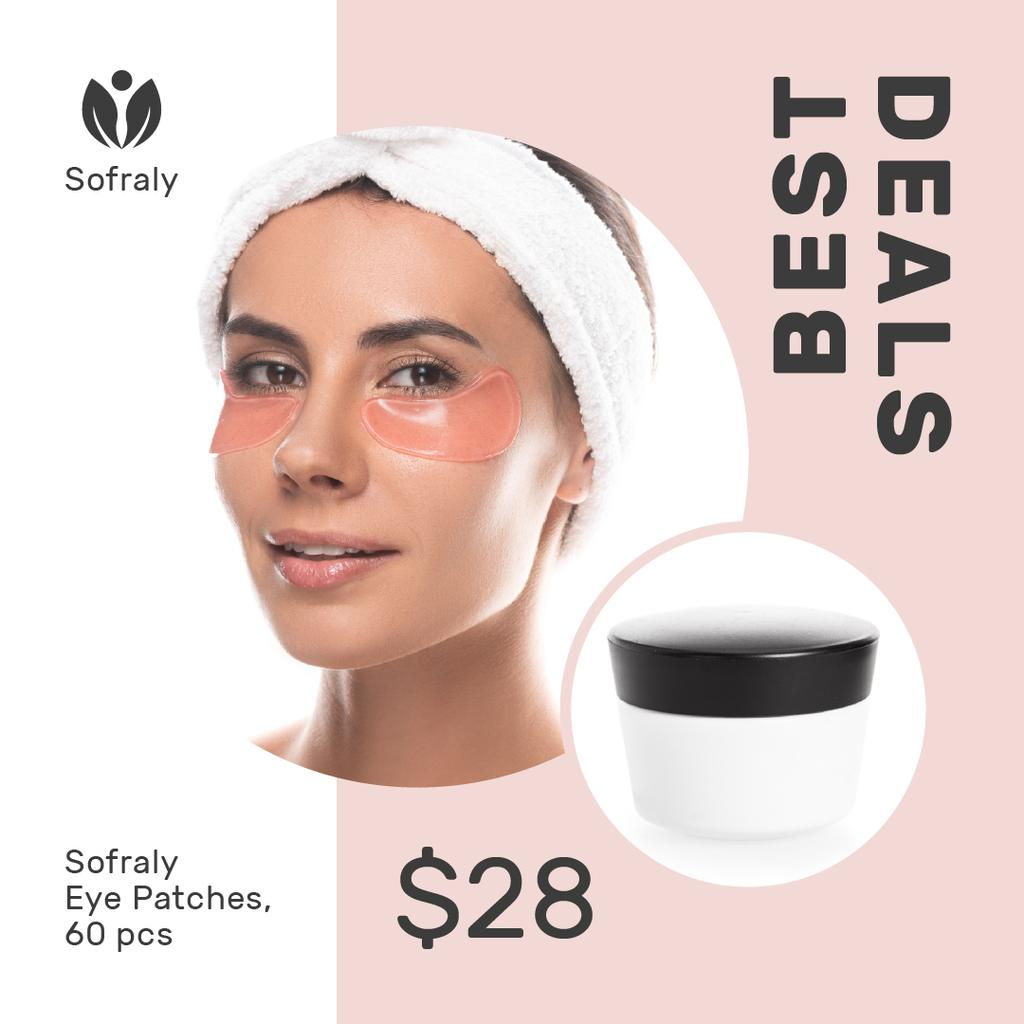 Beauty Routine Ad Woman Applying Patches — Створити дизайн