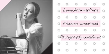 Fashion photography banner Image Modelo de Design
