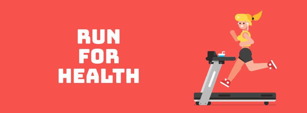 Girl running on treadmill - Bir Tasarım Oluşturun