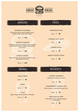 Burger Restaurant dishes