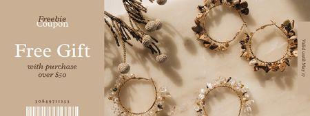 Ontwerpsjabloon van Coupon van Stylish Bracelets Offer on Beige