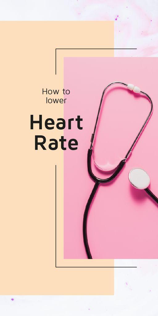 Medical stethoscope on pink surface — Crea un design