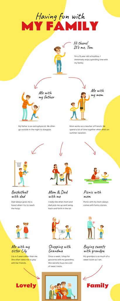 List infographics about having fun with Family — Maak een ontwerp