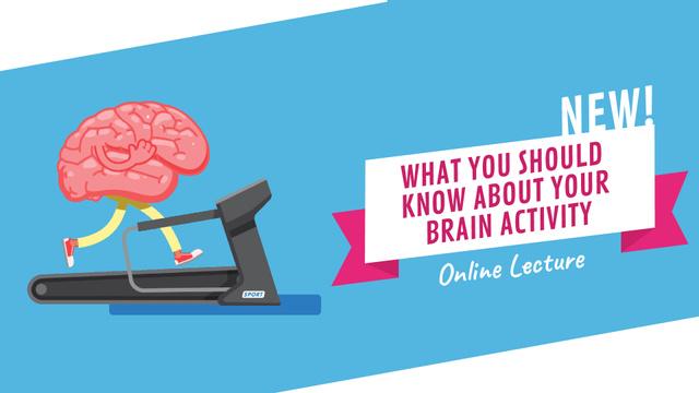 Template di design Brain running on treadmill Full HD video