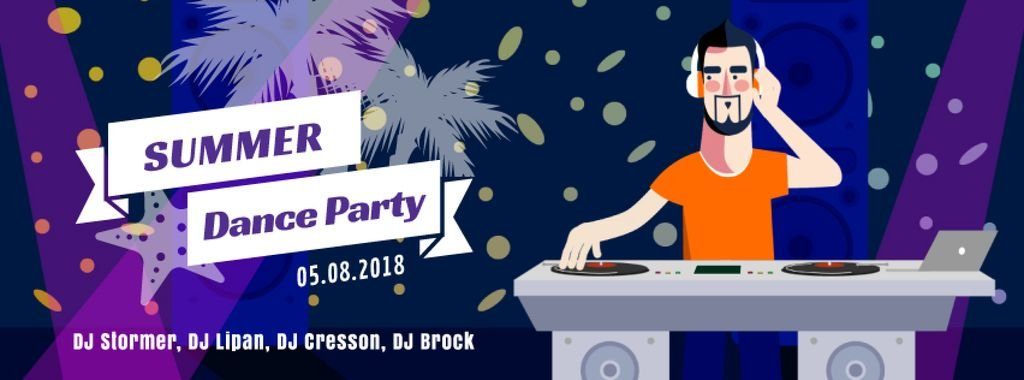 DJ playing music at party — Maak een ontwerp