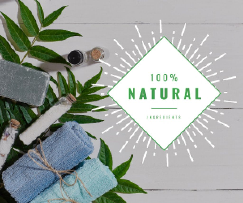 100 % natural ingredients banner — Crea un design