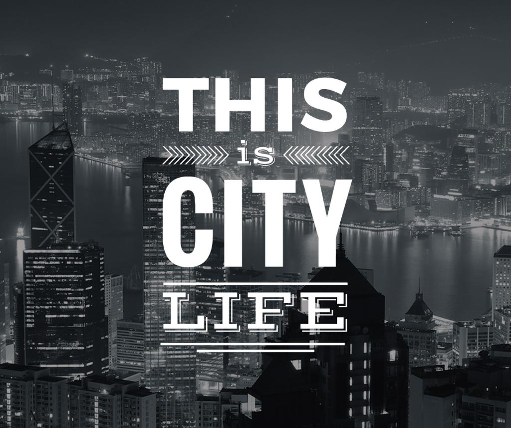 City life banner with skyscrapers — Create a Design