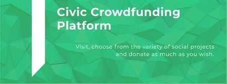 Modèle de visuel Civic Crowdfunding Platform - Facebook cover