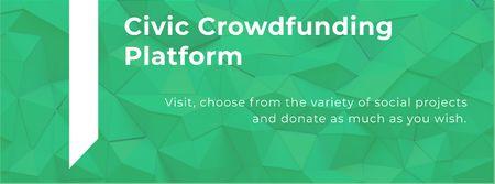 Template di design Civic Crowdfunding Platform Facebook cover