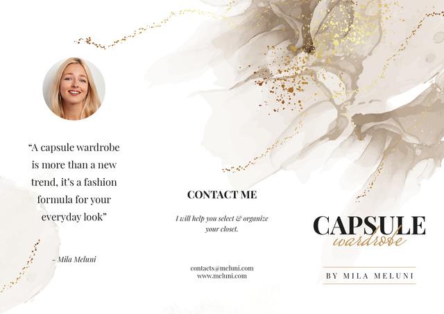 Capsule Wardrobe by professional Stylist Brochure Tasarım Şablonu