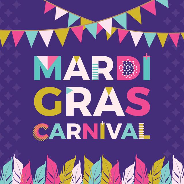 Mardi Gras carnival Announcement Instagram Tasarım Şablonu