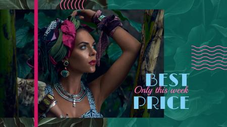 Plantilla de diseño de Fashion Ad with Attractive Woman FB event cover