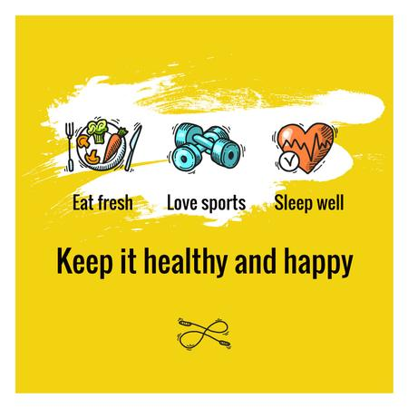 Szablon projektu Healthy lifestyle Concept on Yellow Instagram