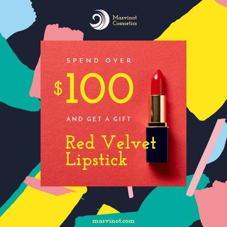 Template di design Special Offer with Red Velvet Lipstick Animated Post
