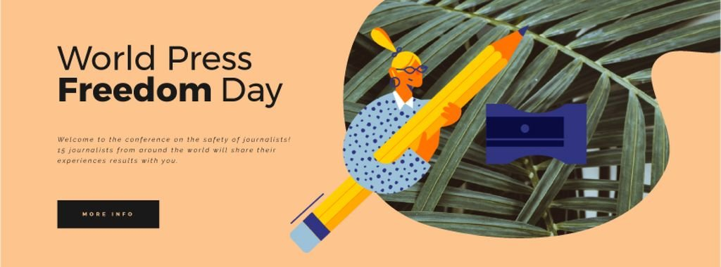 Press Freedom Day Woman with Giant Pencil — Створити дизайн
